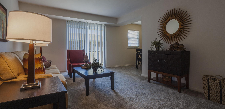 Living Room in Orangewood Park Apartments