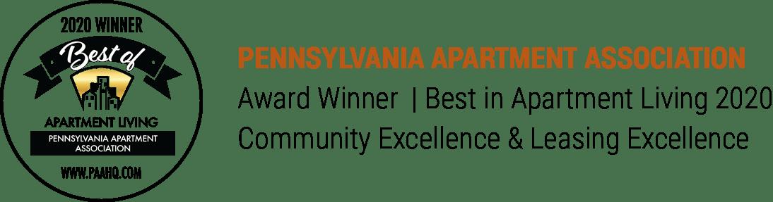 Pennsylvania Apartment Association of Greater Philadelphia Area - Best in Apartment Living 2019